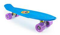 "Детский Пенни Борд Синий 22"" Лиловые Колеса / пенниборд скейт (penny board), скейтборд"