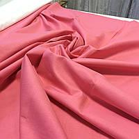 Поплин насыщенный розовый, лососёвый однотонный ширина 220 см, фото 1