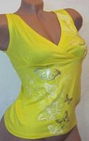 Майка женская летняя желтая 42-46