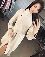 Женское демисезонное кашемировое пальто молочного цвета