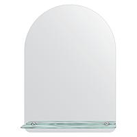 Зеркало без оправы с полочкой