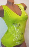 Майка женская летняя салатовая 42-46, фото 1