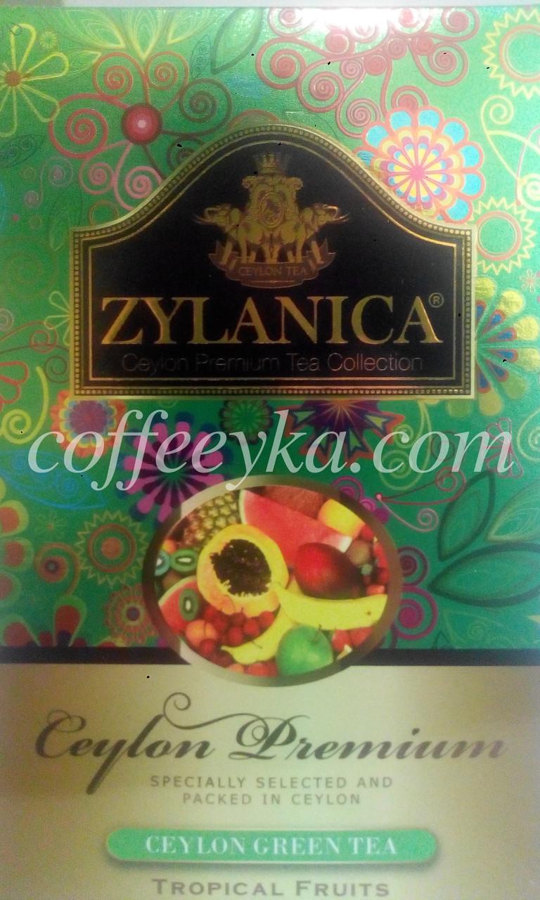 Чай зелёный Zylanica Tropical Fruits Тропические фрукты Gp1 100 г