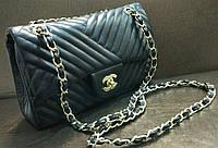 Модная сумка клатч Chanel Шанель на цепочке цвет черный