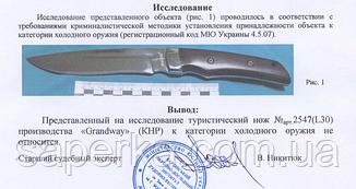Нож широкоуниверсальный с фальшлезвием Grand Way 2547 EWP-3,8 MM, фото 2
