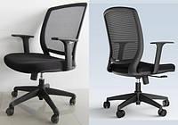 Кресло офисное со спинкой сетка Акцент черный