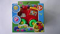 """Развивающая музыкальная игрушка """"Поезд музыкальный"""" (свет, звук,батар).Мини машинка """"Поезд"""" на батарейках, в к"""