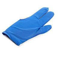 Перчатки бильярдные синие
