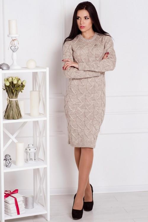 вязаное платье верона пудра цена 375 грн купить в харькове Prom