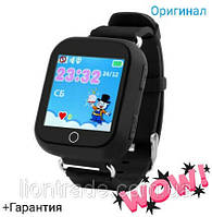 Умные детские часы Q100S(Black), 1.54 с GPS трекером