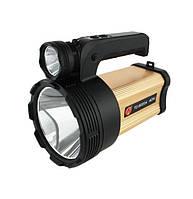 Мощный аккумуляторный светодиодный фонарь TD-9000A 40W с ультрафиолетом