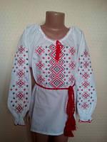"""Рубашка вышиванка для девочки""""Краса""""(128см.)"""