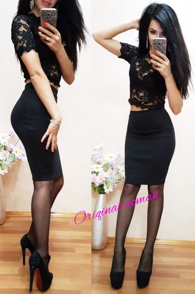 Женская юбка до колена (несколько расцветок) o-211172