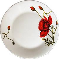 Керамическая посуда Красный мак тарелка 230мм
