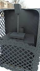 """Дровяная банная печь каменка """"Сюзанна"""" (с выносом, со стеклом, с парогенератором), 8мм, фото 2"""