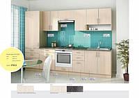 Кухня Прямая из ДСП Дуб молочный в алюминиевой рамке!, фото 1