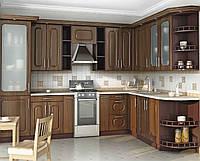 Кухня Угловая из ДСП Венге темный низ, Старое дерево верх, фото 1