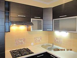 Кухня МДФ Венге темный