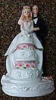 Свадебная статуэтка на торт 18 см (30) белая
