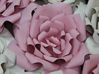 """Бумажные цветы """"Роза"""" из плотного дизайнерского картона  80 см"""