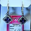 Сережки срібні Висячі з фіанітом 21096ф