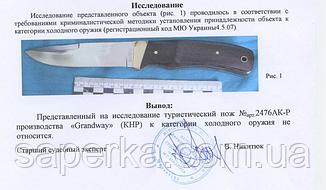 Нож универсальный с отверстием для темляка Grand Way 2476 AKP, фото 2