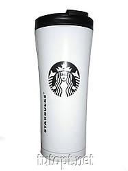 Термокружка Starbucks белая с поилкой