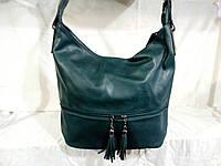 Женская наплечная сумка Little Pigeon зеленого цвета