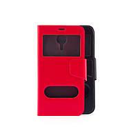 Чехол (книжка) с окошком для Meizu M2 Note красный