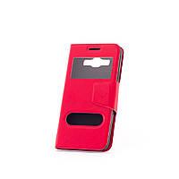 Чехол (книжка) с окошком для Asus Zenfone Selfie (ZD551KL) красный