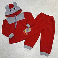 Флисовый костюм для девочки, рост 92-98 см