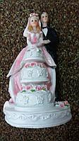 Свадебная статуэтка на торт 18 см (31) белая