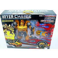 Робот трансформер Бамблби Bumblebee + 2 машинки в коробке 57-48-15см.