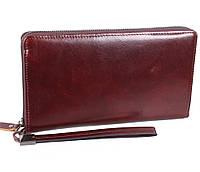Оригинальный мужской кожаный клатч коричневый