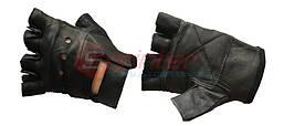 Перчатки для тяжёлой атлетики без пальцев. Кожа. Размер: S