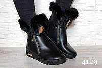 Женские ботинки низкие,черные,эко кожа /ботинки женские,черного цвета, модные