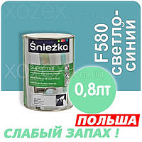 Sniezka SUPERMAL Светло-синяя F580 Без Запаха масляно-фталевая 0,8лт