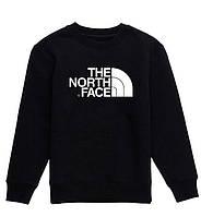 Свитшот The North Face черный с белым логотипом,унисекс (мужской,женский,детский)