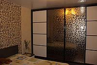Шкаф-купе с рисунком на стекле графит, фото 1