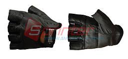 Перчатки для тяжёлой атлетики без пальцев, кожаные. Р-р S.