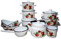 Набор эмалированной посуды Epos 28 (12 единиц, в ассорт.)
