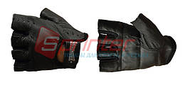 Перчатки для тяжёлой атлетики без пальцев, кожаные. Р-р М.