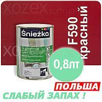 Sniezka SUPERMAL Красная F590 Без Запаха масляно-фталевая 0,8лт