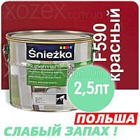 Sniezka SUPERMAL Красная F590 Без Запаха масляно-фталевая 2,5лт