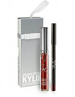 Матовая помада + карандаш Kylie Jenner MERRY серия holiday