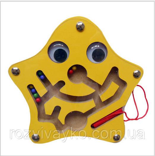 Деревянная игрушка Магнитный лабиринт