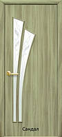 Дверь мдф Лилия стекло с гравировкой Р3 экошпон