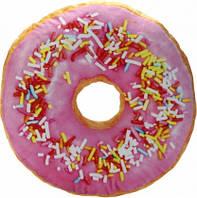 Подушка Пончик малиновый с посыпкой (p-34)