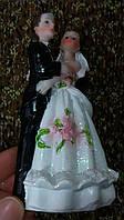 Свадебная статуэтка на торт 12 см (34) белая