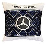 Подушка сувенирная в машинус логотипом Mercedes мерседес, фото 5